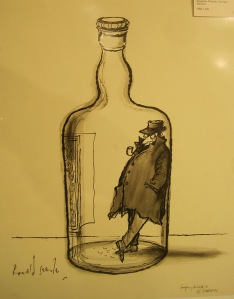 Georges Simenon Original Art by Ronald Searle