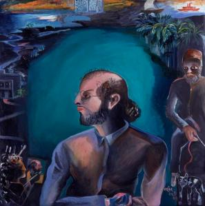 NPG 6352; Salman Rushdie ('The Moor') by Bhupen Khakhar