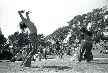 Dancers in GG Park 	April 20, 1969  sheet 277	frame 36