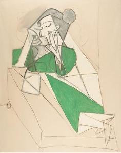 ART - Pablo-Picasso-Femme-etendue-lisant-19521