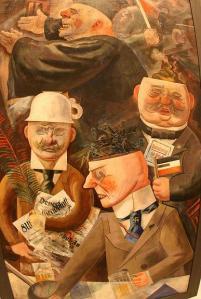 George Grosz, Τα στηρίγατα της κοινωνίας, 1926
