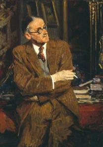 French-Portrait-Painter-Jacques-Emile-Blanche-James-Joyce-Oil-Painting