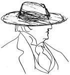 Guitry dessin chapeau