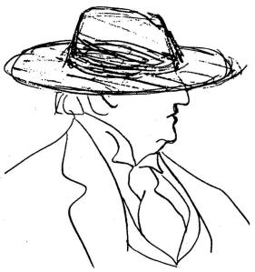 Guitry dessin chapeau