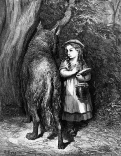Little Red Riding Hood, by Gustave Dore (d. 1883