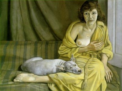 Lucian Freud, Girl with a White Dog, 1951