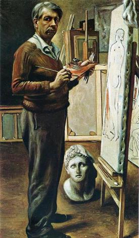de Chirico self-portrait-in-the-studio-1935