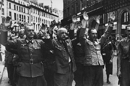 German officers surrender in Paris, August 1944.