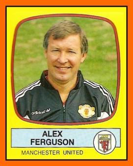 Alex FERGUSON Panini Manchester United 1988