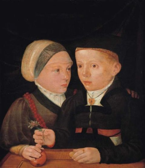 Jakob Seisenegger - Portrait of a brother and a sister