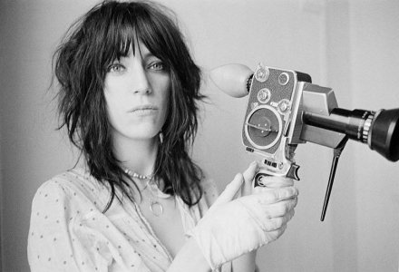Patti with Bolex-1, 1969_