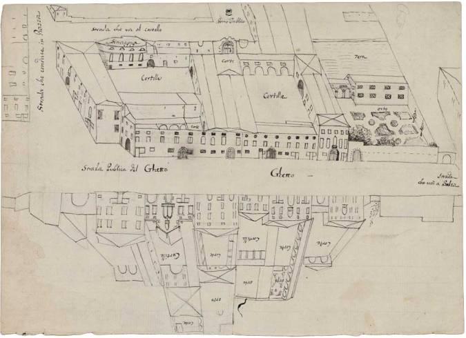 Map of Venice Ghetto, 1775