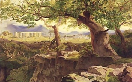 The Temple of Apollo Bassae - Edward Lear