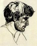Portrait of Ted Hughes by Sylvia Plath,1956
