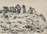 Konrad Klapheck Llandscape with ruins(1950)
