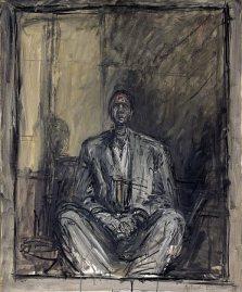 """Alberto Giacometti, """"Portrait of Jean Genet"""", 1954 – 1955"""