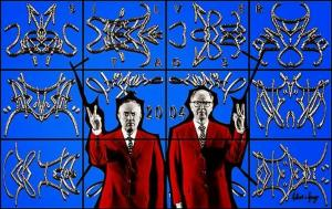 gilbert and george silver tags
