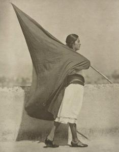 woman with flag [mexico 1926]