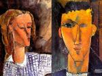 Amadeo-Modigliani-Portrait-of-Beatrice-Hastings-and-Portrait-of-Raymond-Radiguet