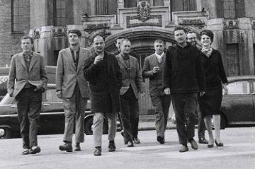 Detail of a photograph published in the I.S. n°5, December 1960, p.21. IS London Conference_