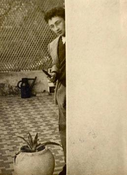 Guy Debord with knife