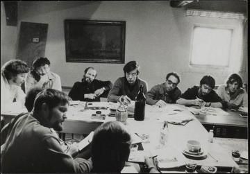 Rene Vienet, Guy Debord, Claudio Pavan, Paolo Salvadori, Mustapha Khayati, Rene Riesel, and Alain Chevalier