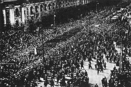 Kronstadt demonstration 1917