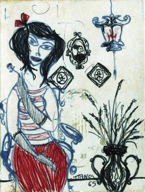 Πάνος Κουτρουμπούσης. Wallflower, 1965