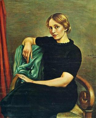 portrait-of-isa-with-black-dress-1935