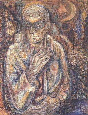 Masked Portrait (Georg Trakl) - Albert Bloch 1_