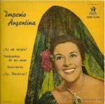 IMPERIO ARGENTINA EP SELLO ODEON AÑO 1961 VINILOROJO