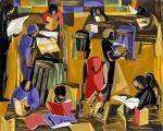 Jacob Lawrence (1917-2000) The Library,1960