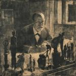 Max Pollak – Portrait of SigmundFreud_